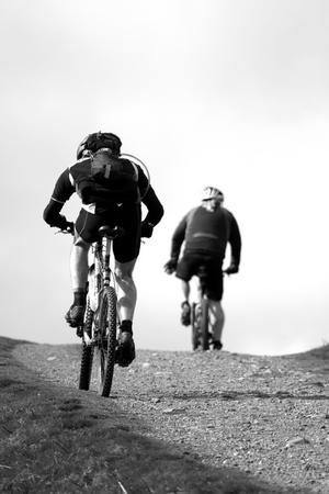 Cyclists on Pentland Hills
