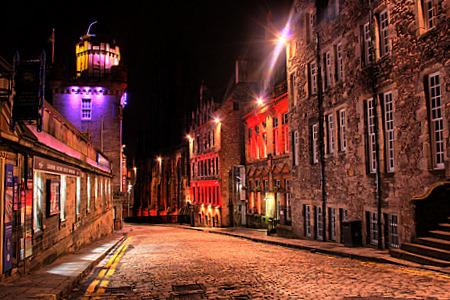 Edinburgh High Street from Edinburgh Castle Esplanade