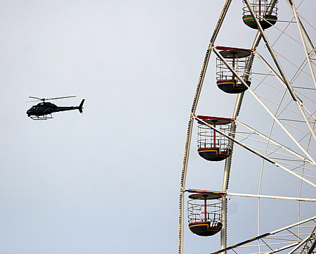 Helicopter and Wheel