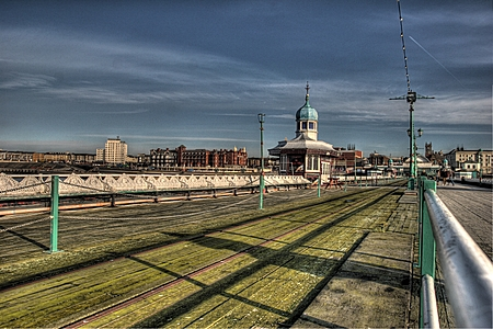 Blackpool North Pier looking landward