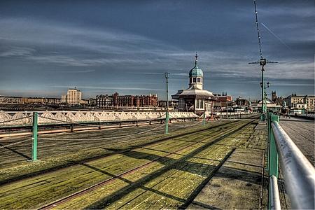 Blackpool North Pier looking landward
