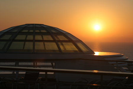 Sunset from Deck 12