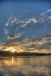Sunset at Cramond