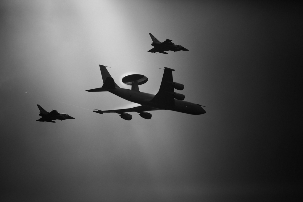 Awacs and Typhoon Escort