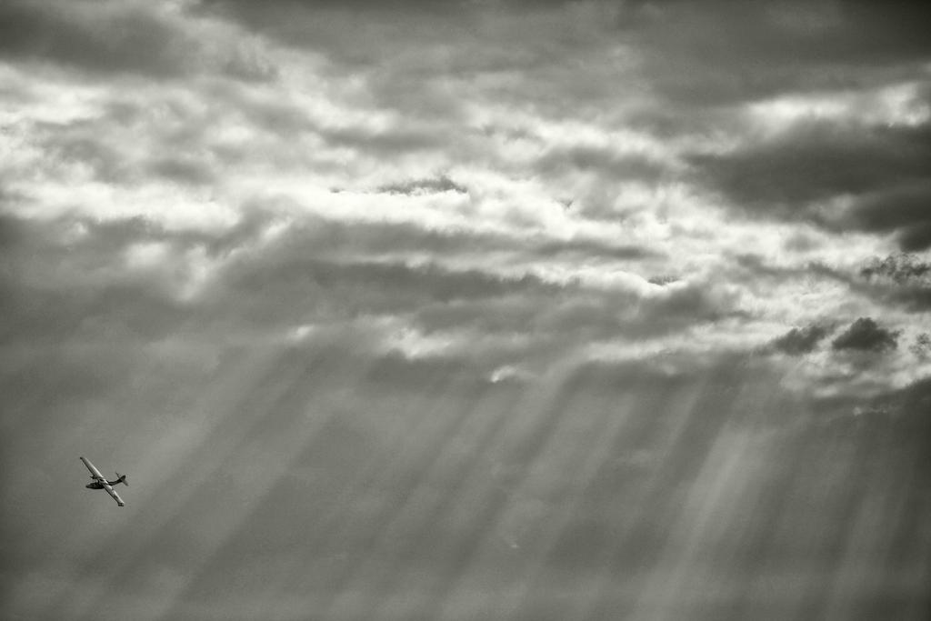 PBY Catalina against a big sky