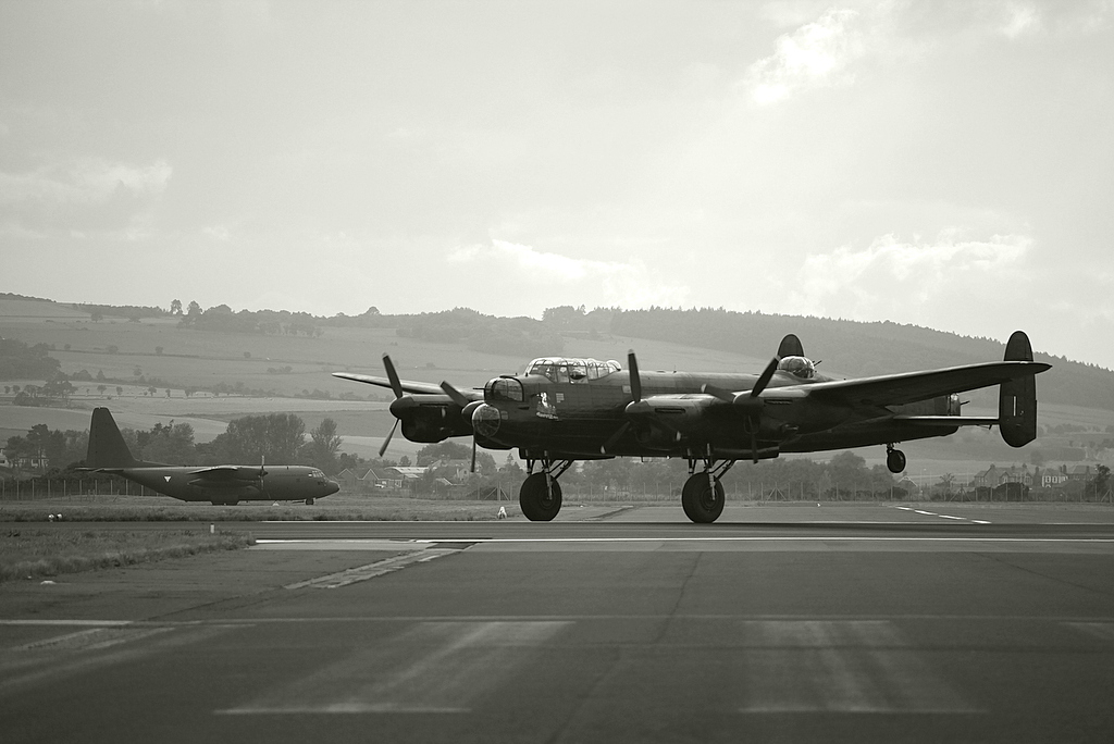 Avro Lancaster Taking Off