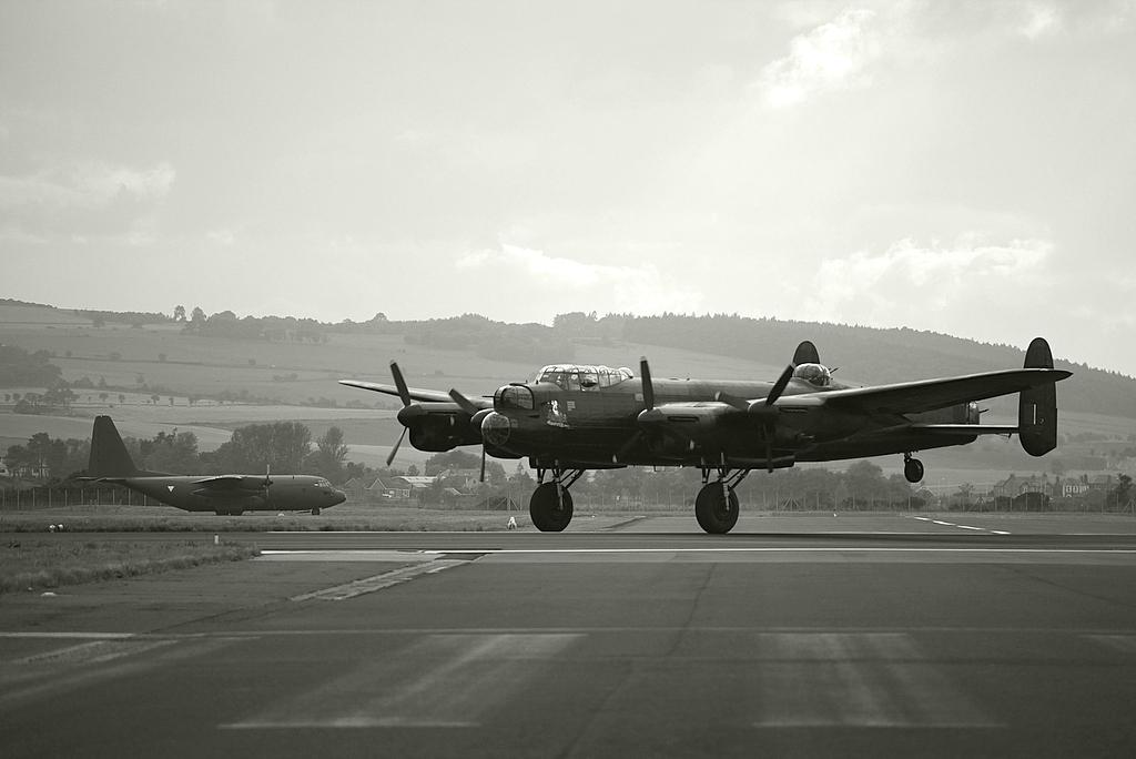 Avro Lancaster Taking Off