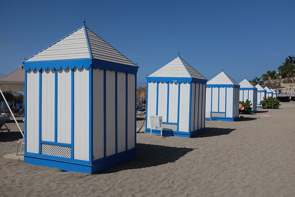 Anti-sun Cabins - I approve of these, you can lie inside in the dark and listen to The Smiths