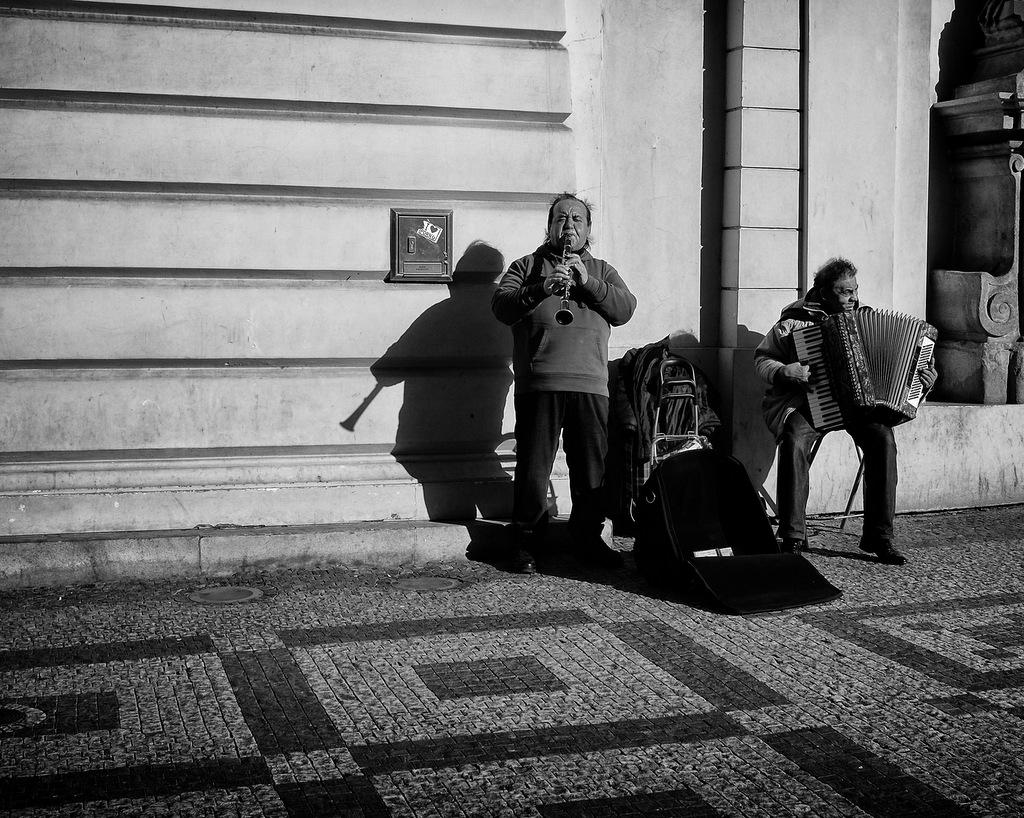 Prague Street Performer