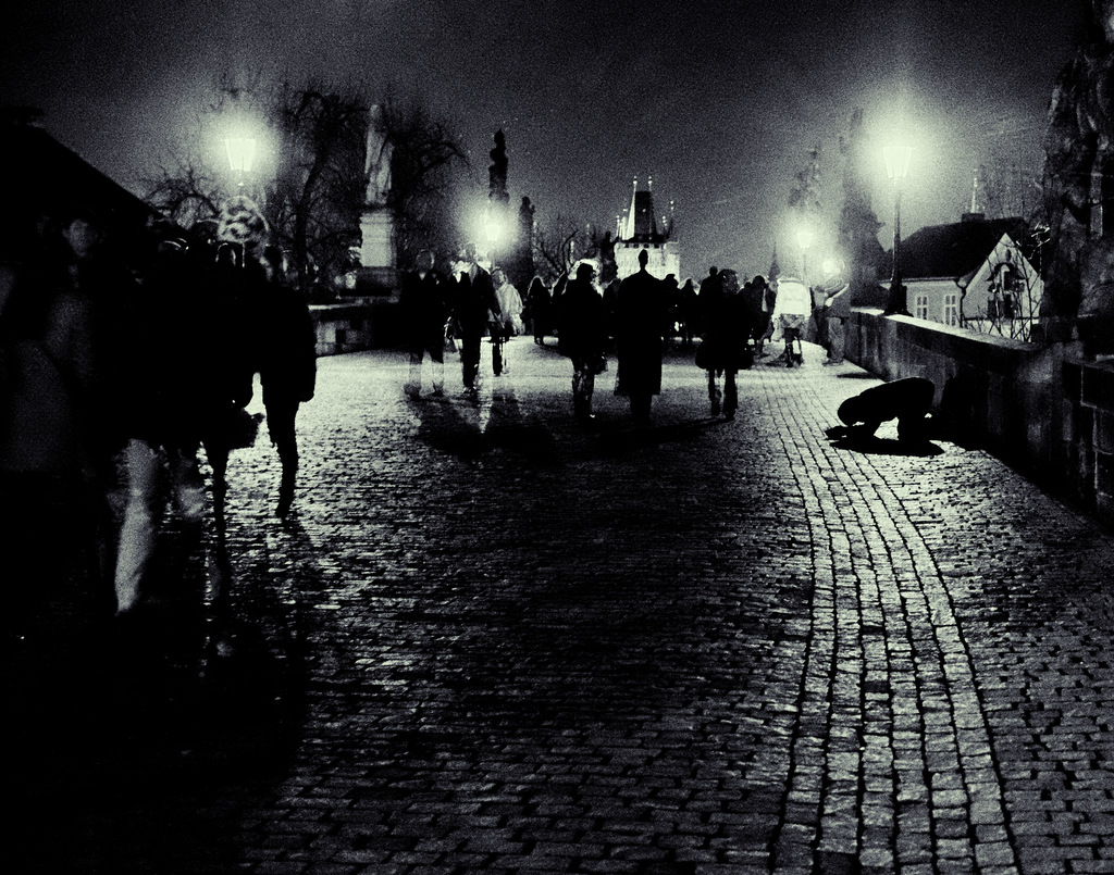 Night Scene on Charles Bridge