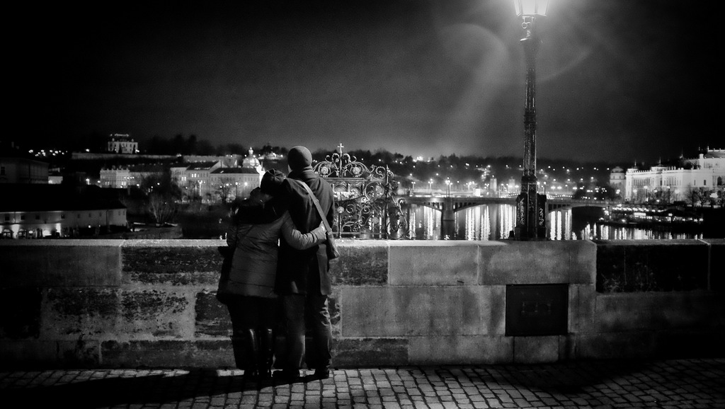 Valentine's Night on Charles Bridge