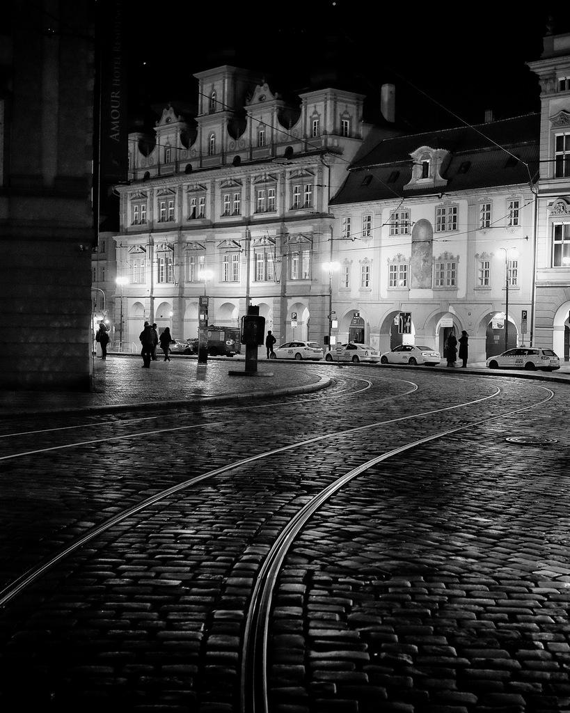Tram Lines At Night