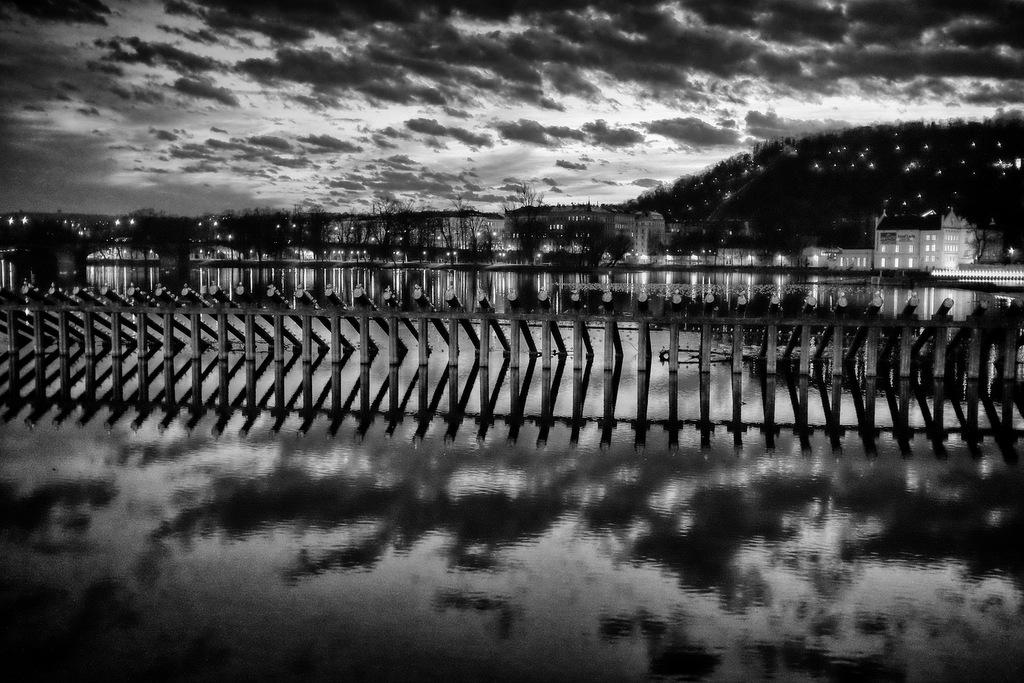 Sun Setting On River Vltava
