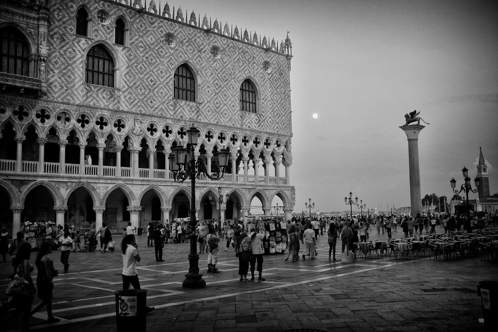 Supermoon over the Doge's Palace