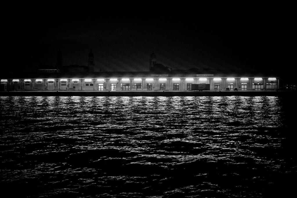 Night by the Port of Venice