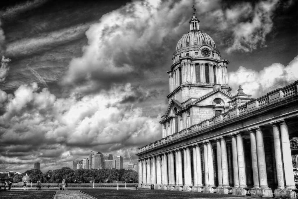 Maritime College at Greenwich and Canary Wharf