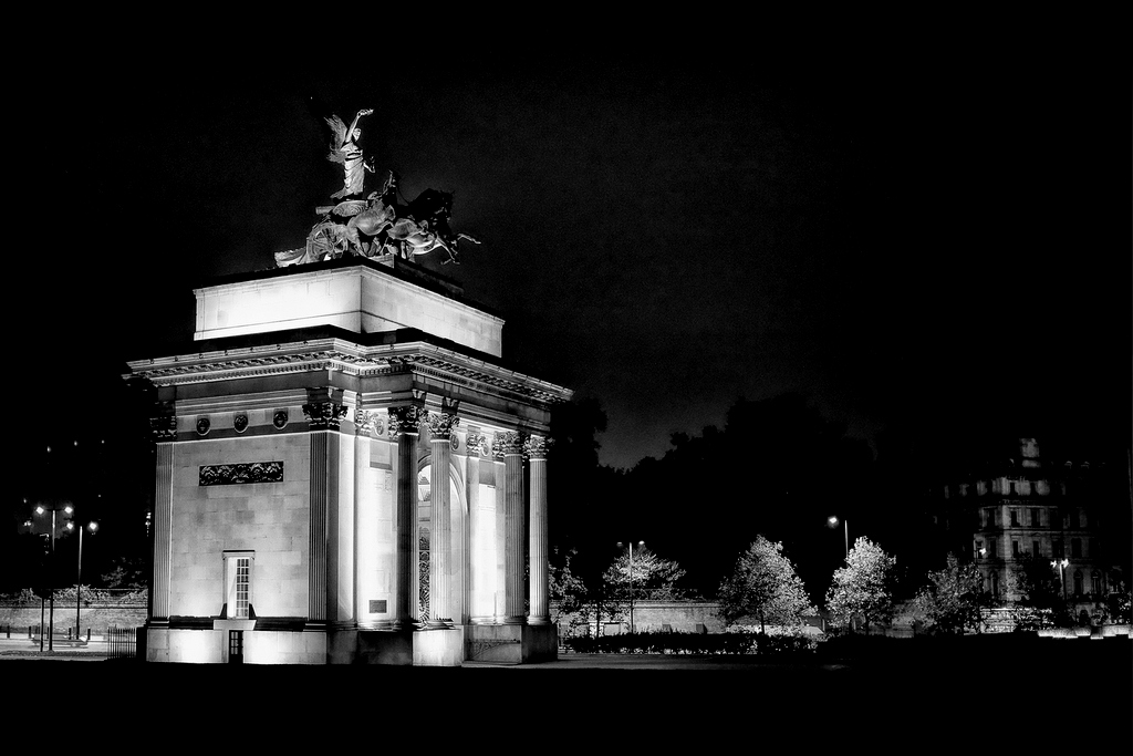 Wellington Arch At Night