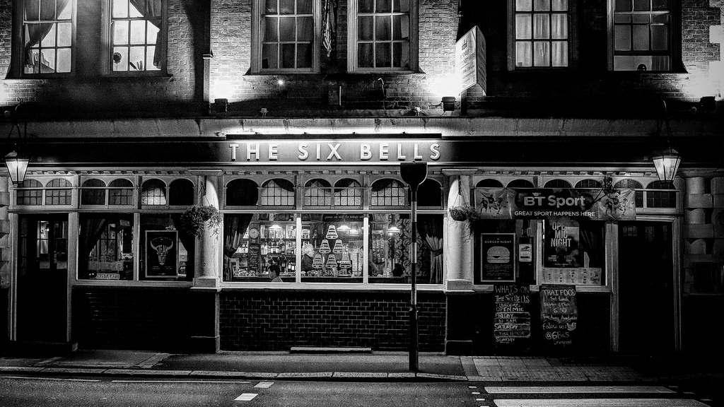 as far as I know, The Six Bells are not what gets knocked out go you should you enter, always seemed fine to me and has a good pool table
