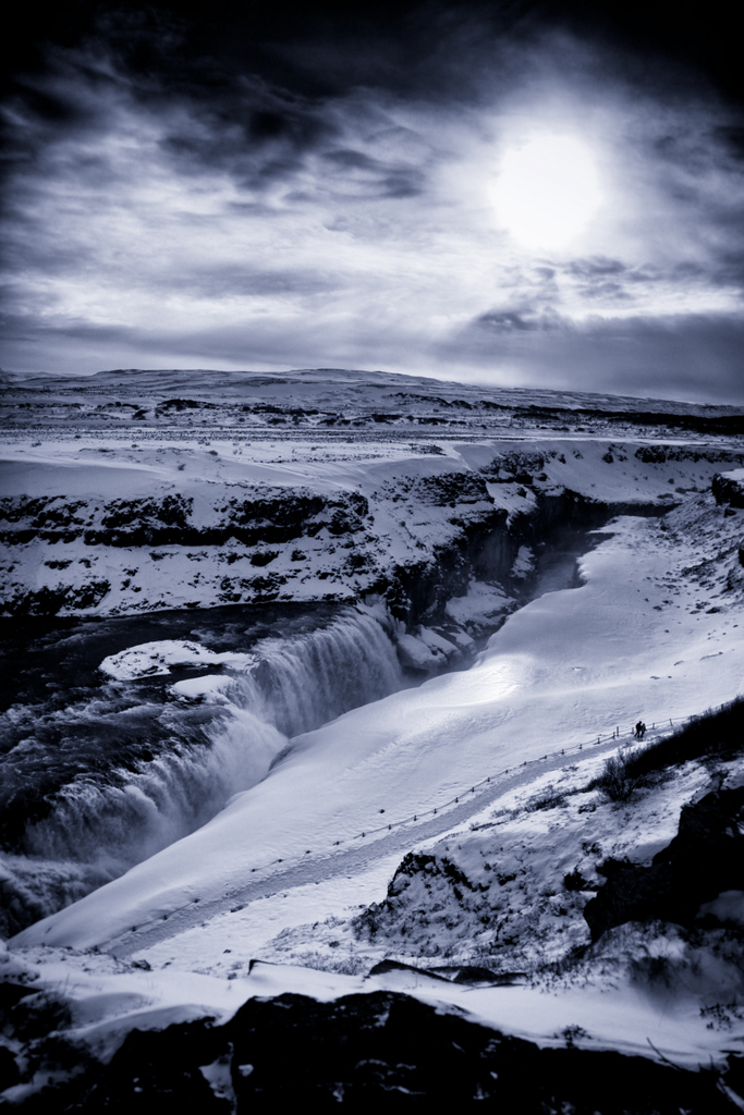 Gullfoss in the other direction