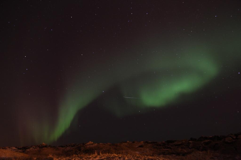 Aurora Borealis coiling round the sky