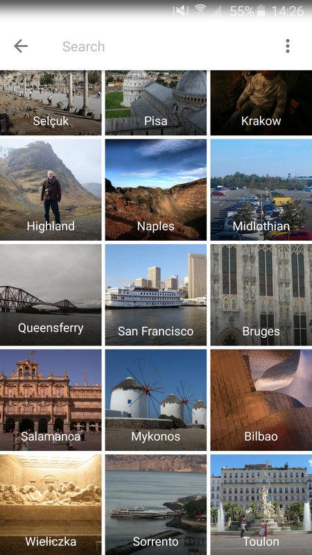 Google Photo locations on my phone