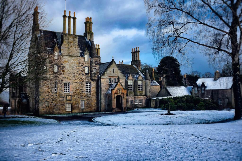 Lauriston Castle in the snow
