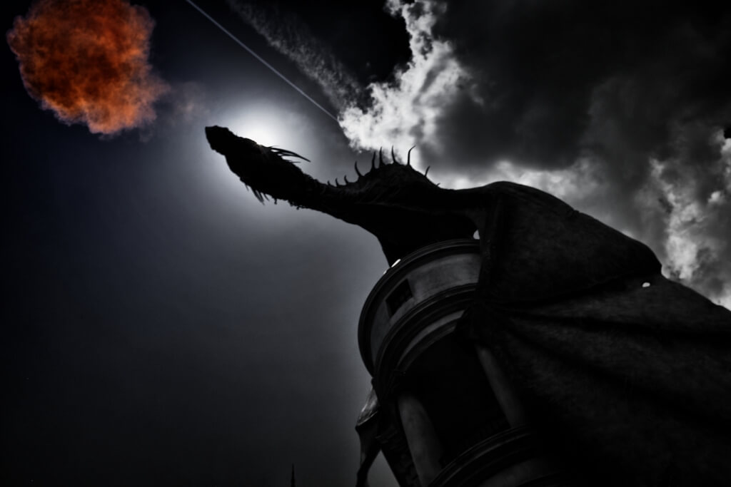 Dragon at Harry Potter Orlando Florida